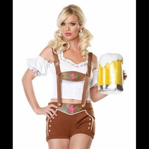 Halloween Women's Miss Lederhosen Costume Beer